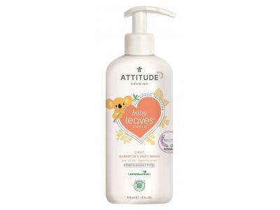ATTITUDE Dětské tělové mýdlo a šampon (2 v 1) Baby leaves s vůní hruškové šťávy 473 ml