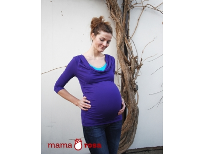 Mama Rosa Těhotenské a kojící tričko - Violet