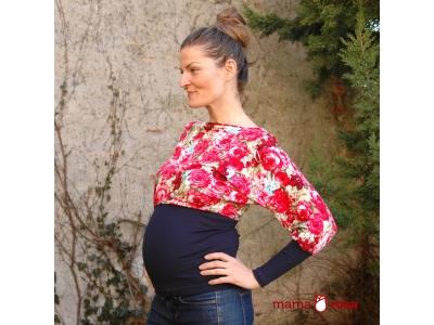 Mama Rosa Těhotenská halenka RONJA - růže