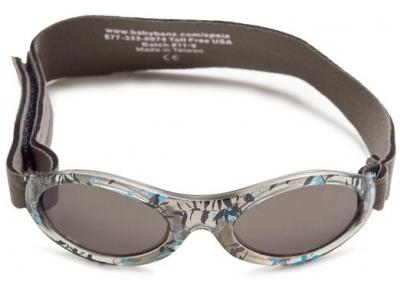 Kidz Banz sluneční brýle 2-5 let - šedé s květy