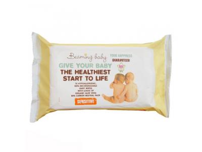 Beaming Baby Organické vlhčené ubrousky s vůní 72 ks