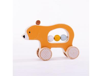 Bigjigs Toys Medvídek na kolečkách