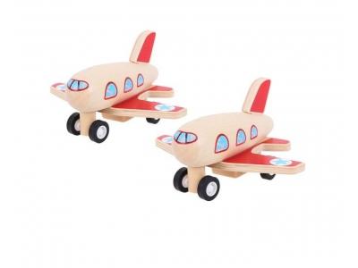 Bigjigs Toys Dřevěné natahovací letadlo 1 ks