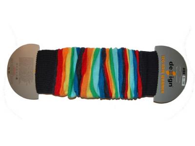 Design Socks Návleky na nožky - duhové pruhy