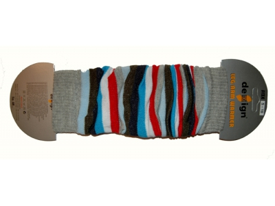 Design Socks Návleky na nožky - šedomodré pruhy