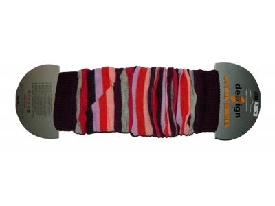 Design Socks Návleky na nožky - fialovorůžové pruhy