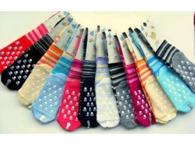 Diba Protiskluzové dětské ponožky pruhované (froté) - vel. 3 (12-24m)