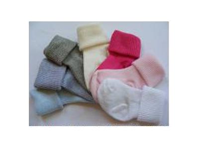 Diba Ponožky kojenecké ohrnovací - světle růžové