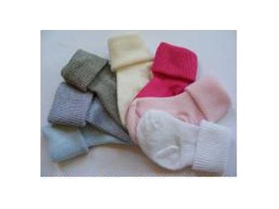 Diba Ponožky kojenecké ohrnovací - světle modré