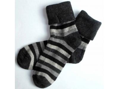 Diba Dámské vlněné ponožky pruhované - vel. 39-40