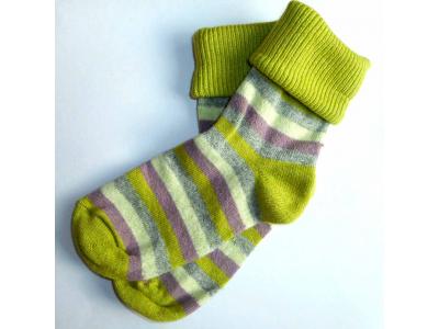 Diba Dámské vlněné ponožky pruhované - vel. 39-41