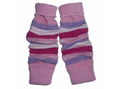 Diba Vlněné návleky na nožičky - růžové pruhy
