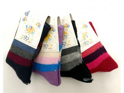 Diba Silnější bavlněné dětské ponožky LUX - vel. 0 (3-6m)