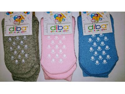 Diba Protiskluzové dětské ponožky (froté) - vel. 3 (12-18m)