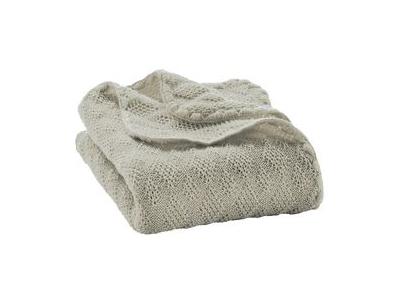 Disana Pletená dětská deka z merino vlny - šedá