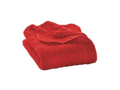 Disana Pletená deka z merino vlny - červená