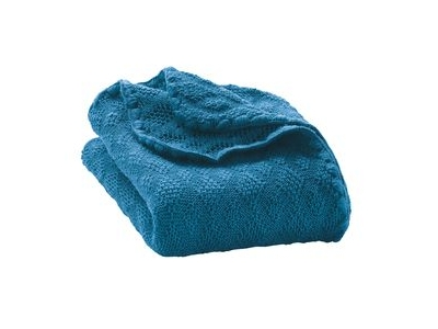 Disana Pletená dětská deka z merino vlny - modrá