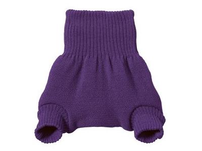 Disana Vlněné svrchní kalhotky - švestka