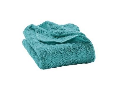 Disana Pletená dětská deka z merino vlny - lagoon