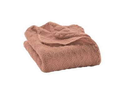 Disana Pletená dětská deka z merino vlny - rosé