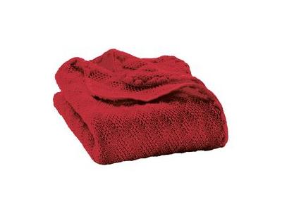 Disana Pletená dětská deka z merino vlny - bordeaux