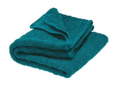 Disana Pletená dětská deka z merino vlny - pacific