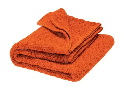 Disana Pletená dětská deka z merino vlny - orange