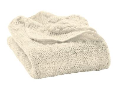 Disana Pletená dětská deka z merino vlny - přírodní