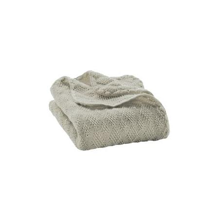 cdb15a70959c Disana Pletená detská deka z merino vlny - sivá -