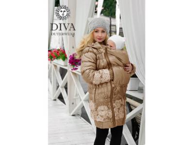 Diva Milano zimní nosící kabát (high warm) 3v1 - Moka