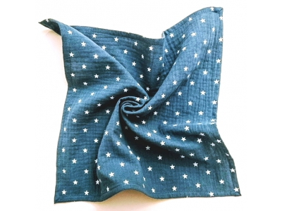 Eco Capart Mušelínový šátek / plenka 36 x 36 cm - Blue Star