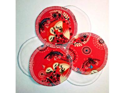 Eco Capart Kojící vložky do podprsenky Stay Dry 3 páry - Máma liška lososová