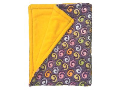 Eco Capart Dětská deka mazlivá 75x100 cm - Žlutofialová