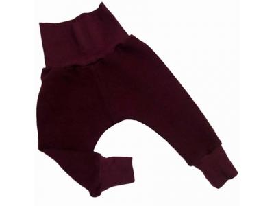 Eco Capart Dětské kalhoty z BIO bavlny - fialovovínové
