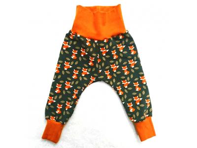 Eco Capart Dětské kalhoty z BIO bavlny - Lišky v listí