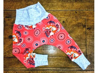 Eco Capart Dětské kalhoty - Máma liška lososová