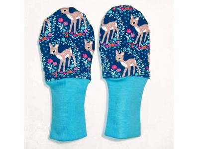 Eco Capart Kojenecké rukavičky bez palce MERINO - Srnečky