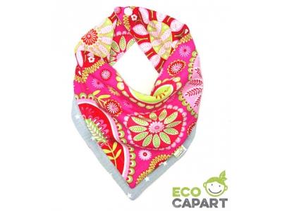 Eco Capart Oboustranný šátek slintáček - Grey Stars & Paisley