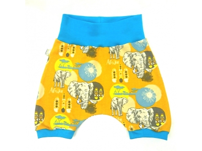 Eco Capart Dětské kraťásky z BIO bavlny - Afrika