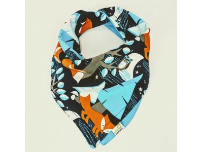 Eco Capart Oboustranný šátek slintáček z BIO bavlny - Nightfox