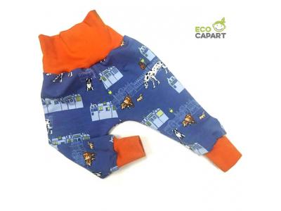 Eco Capart Dětské kalhoty z BIO bavlny - Nightly meeting