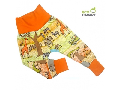 Eco Capart Dětské kalhoty z BIO bavlny - Safari