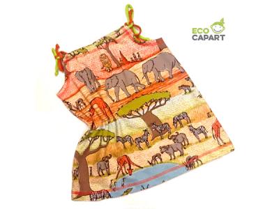 Eco Capart Dětské šaty z BIO bavlny - Safari