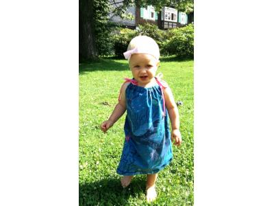 Eco Capart Dětské šaty z BIO bavlny - Mořské dno