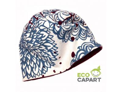 Eco Capart Dětská čepice dvojitá z BIO bavlny - Chrysanthema
