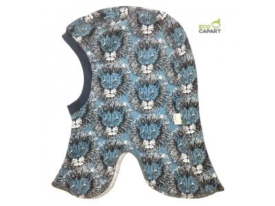 Eco Capart Dětská čepice kukla z BIO bavlny - Lvi