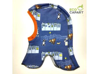 Eco Capart Dětská čepice kukla z BIO bavlny - Nightly meeting