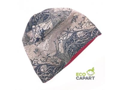 Eco Capart Dětská čepice MERINO - Čarovný les