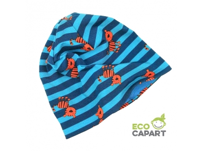 Eco Capart Dětská čepice MERINO - Tygříci