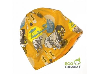 Eco Capart Dětská čepice MERINO - Afrika